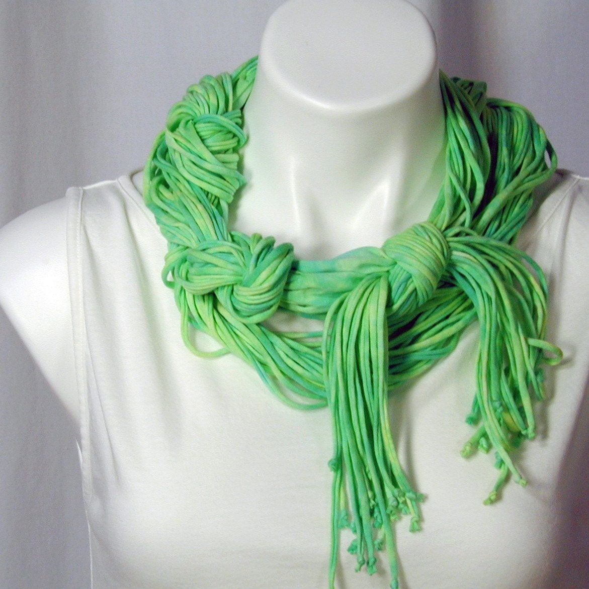 The Naked Soba Scarf in Spring Green From dyedianadye