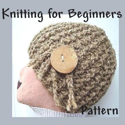 Knitting Pattern PDF 69 Knitting for Beginners – Toasted Wheat Hat