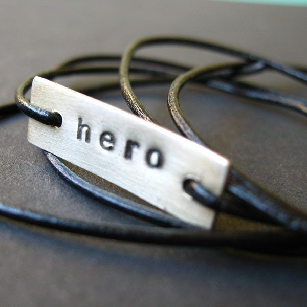 Hero - Sterling Silver and Cotton Cord Stamped Wrap Bracelet