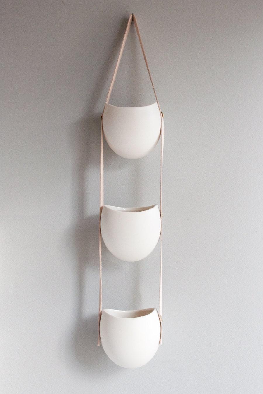 Porcelana ORDER-Karlyn-4 CUSTOM queda e couro pendurado recipiente médio porte
