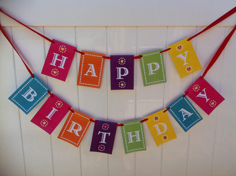 Гирлянда с Днем рождения своими руками - шаблоны, скачать и