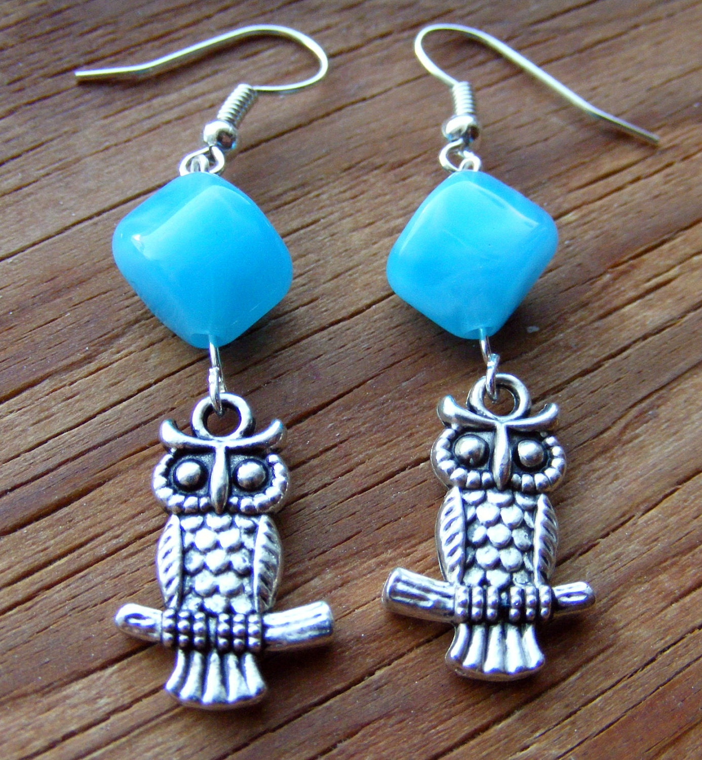 Earrings Owl Sky