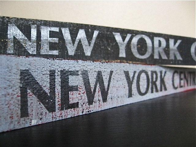 Wooden New York Central Railroad Signs. 2 Available.