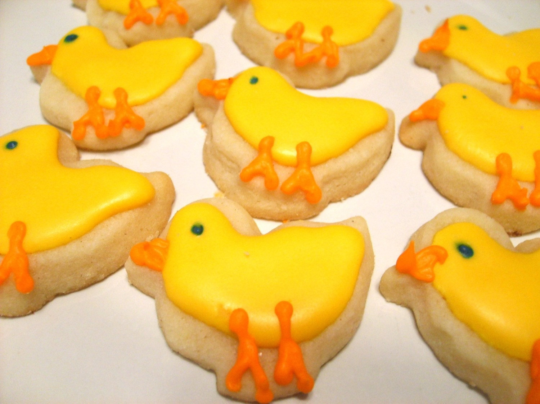 Mini Spring Chicks Sugar Cookies