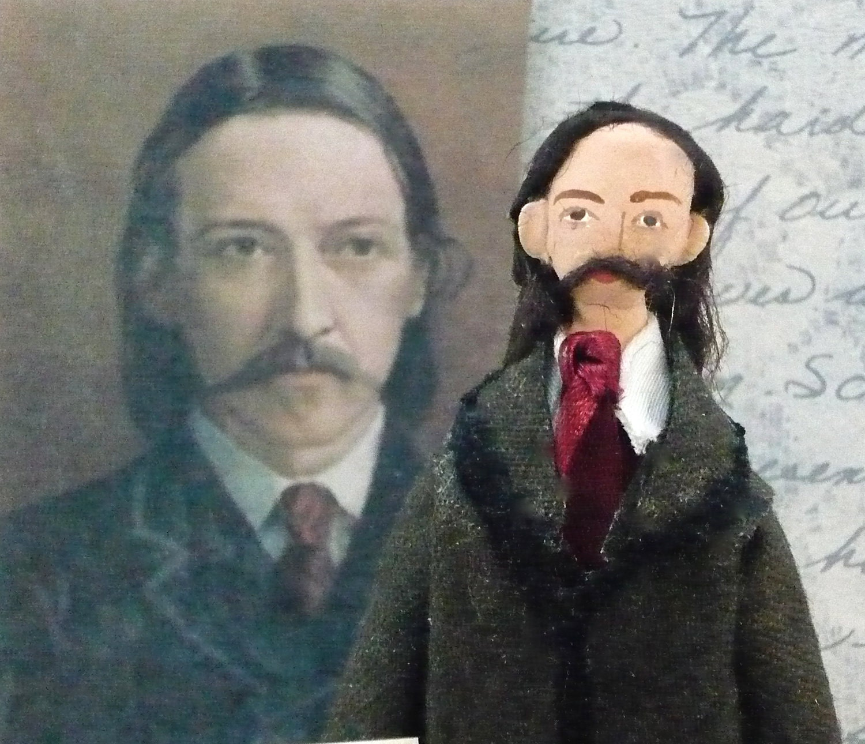 Writer Doll Robert Louis Stevenson Miniature Author of Treasure Island