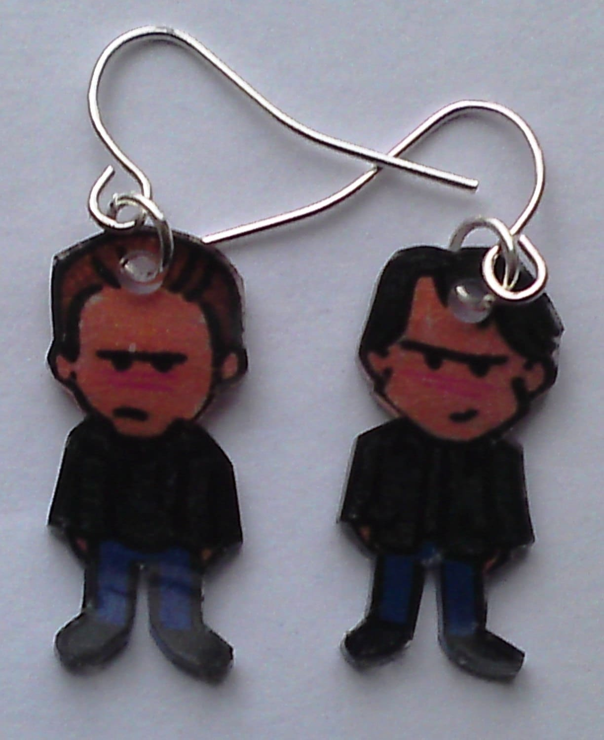 Kawaii Vampire Diaries Stefan and Damon earrings