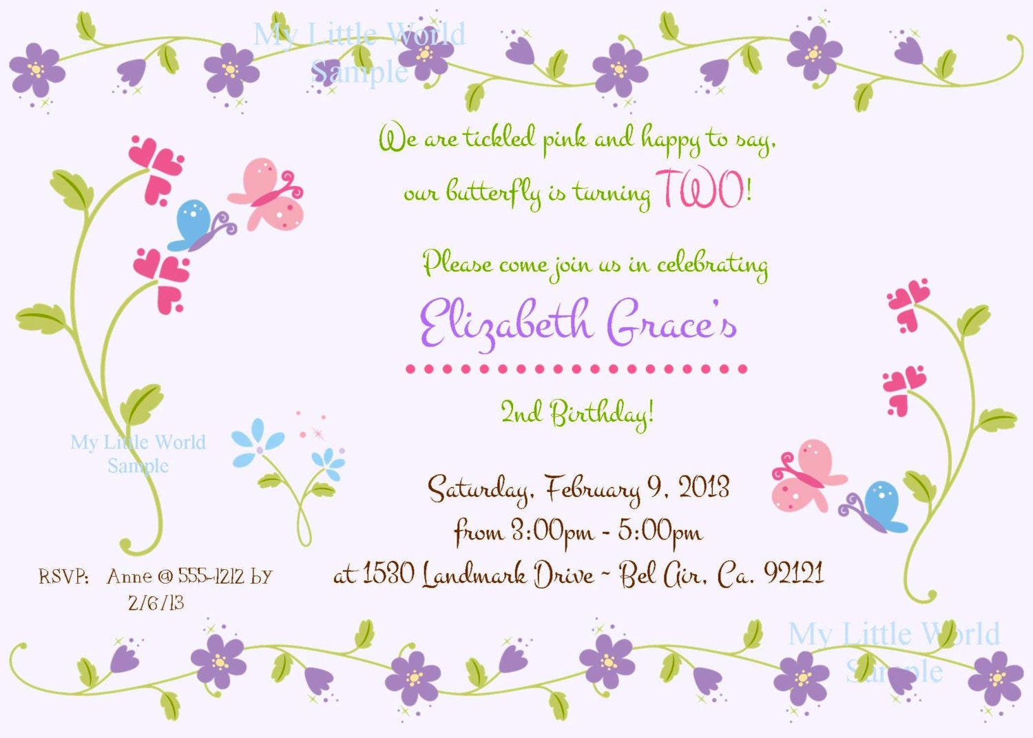 Butterfly Party Invitations is luxury invitation design