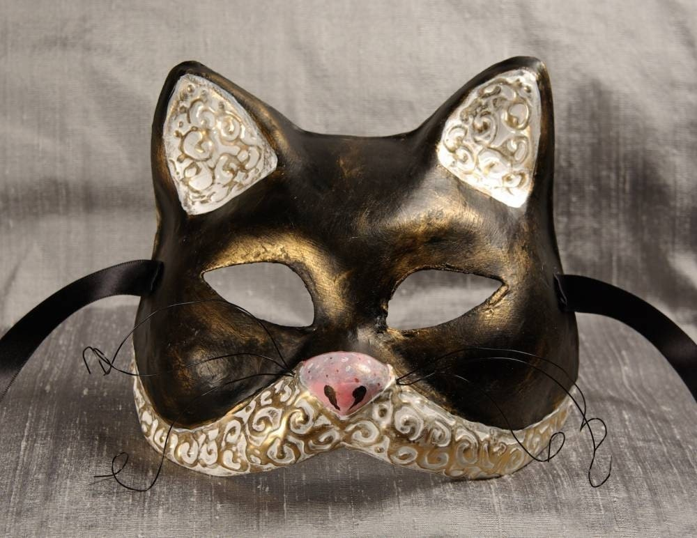 Le Chat Noir (The Black Cat) Mask for Masquerade/Costume/Halloween/Cosplay