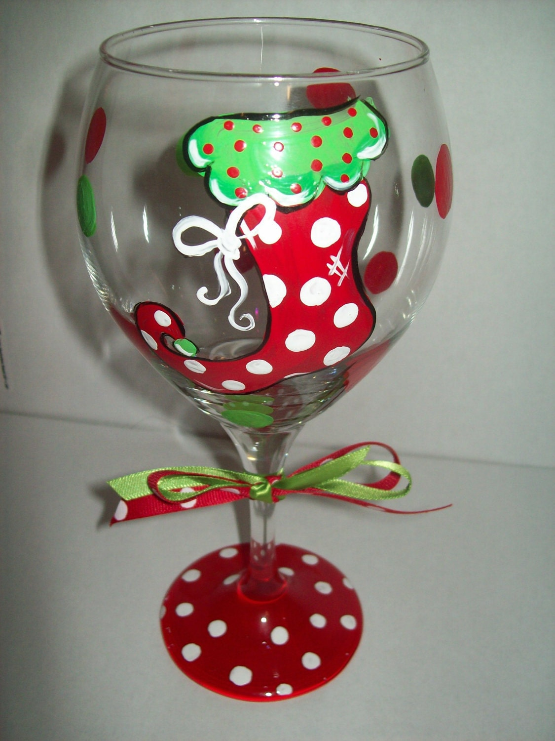 Unavailable listing on etsy for Christmas glass painting