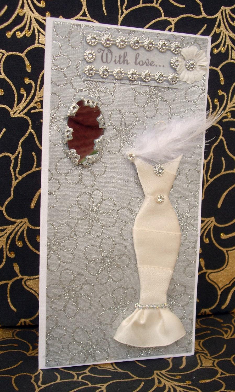 SALE With love...Dress Card / Handmade Greeting Card