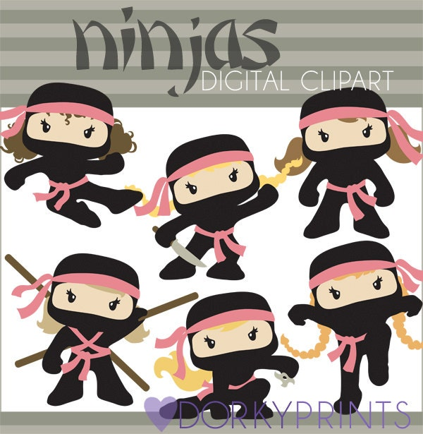 Cute December Clipart Ninjas Clipart December 23