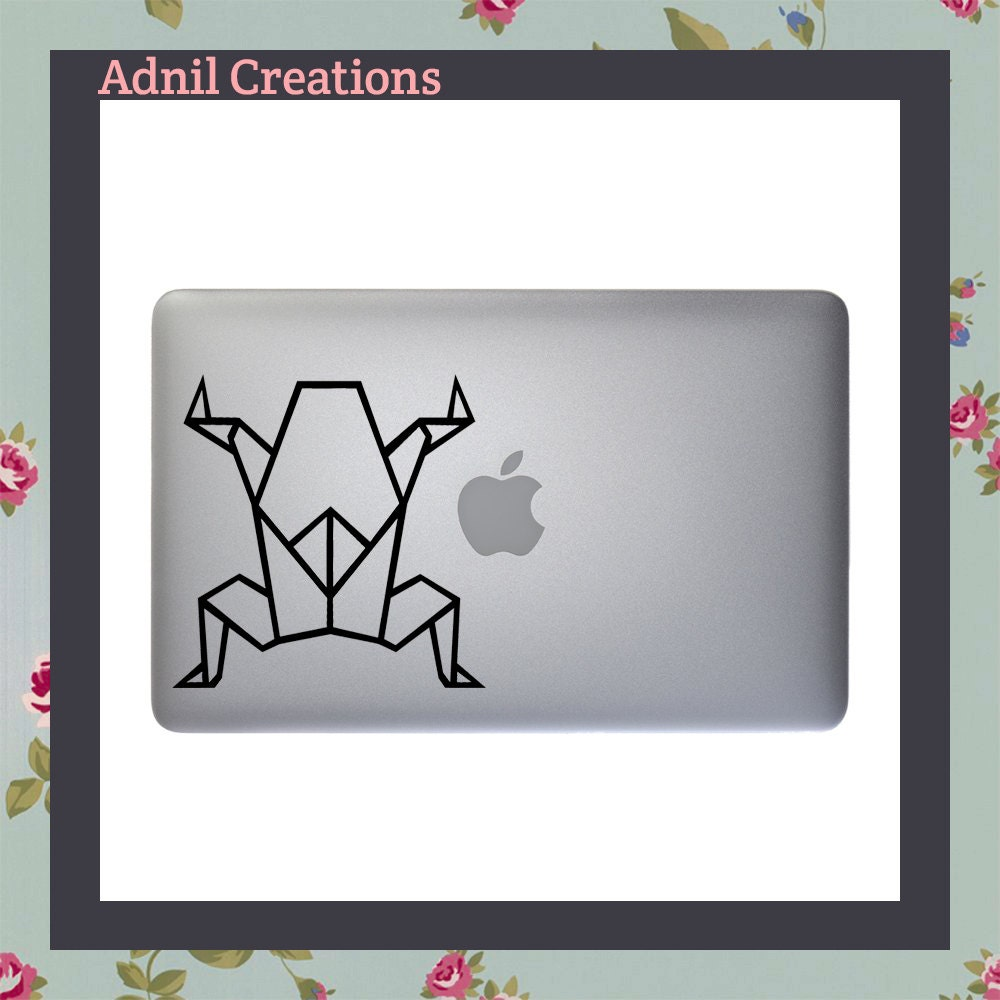 Geometric Frog Macbook Decal Apple Macbook iPad and other laptop stickers Mac Decal iPad Decals iPad stickers