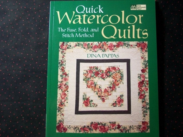 Book Cover Watercolor Quilt : Quick watercolor quilts pattern book by terribhappy on etsy