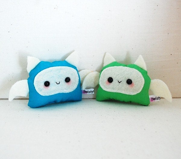 Kawaii Baby Monster Plushies - Blue and Green