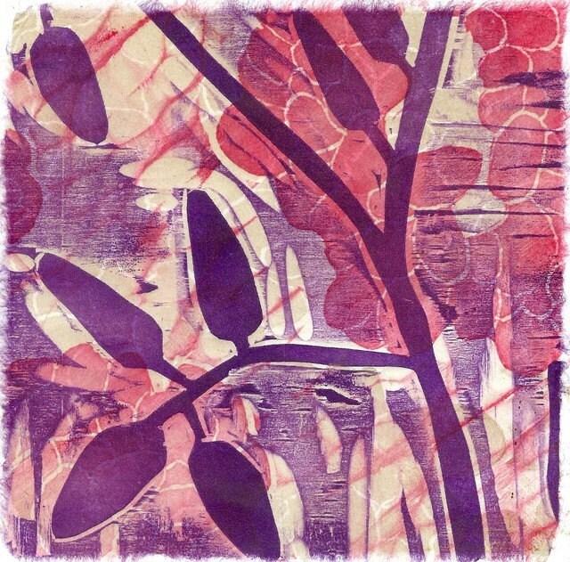 Turmoil Woodblock Print