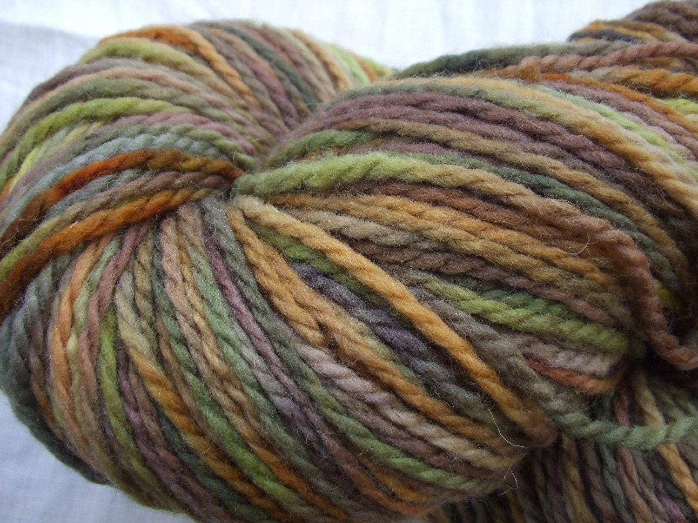 Hand Painted Aran Weight Wool Yarn-475 Yds/250 grams