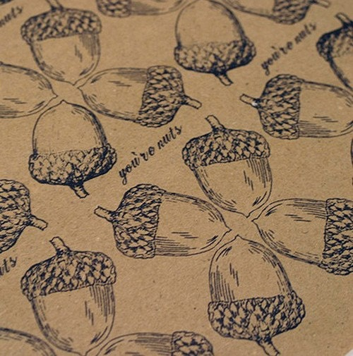 you're nuts wrapping paper