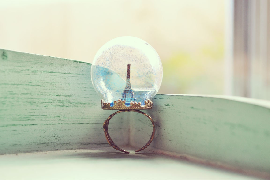 Midnight in Paris Orb Ring - oflovelythings