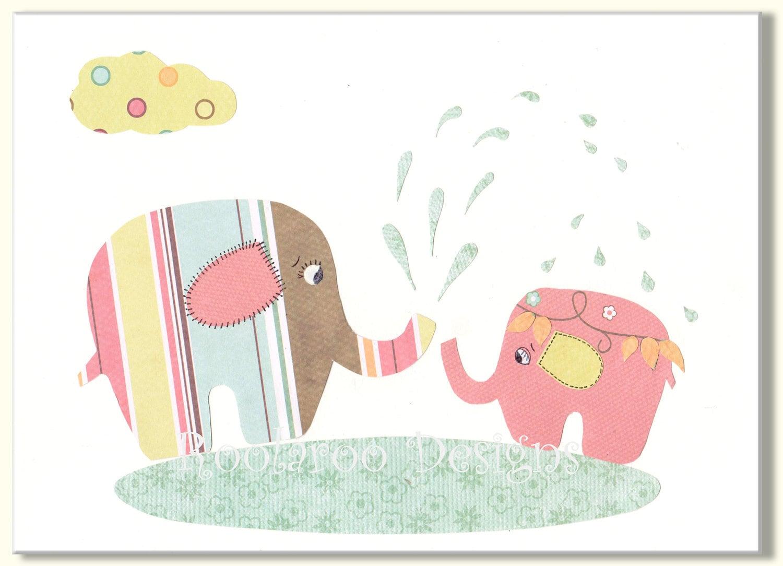 baby shower decoration kids wall art elephant nursery decor