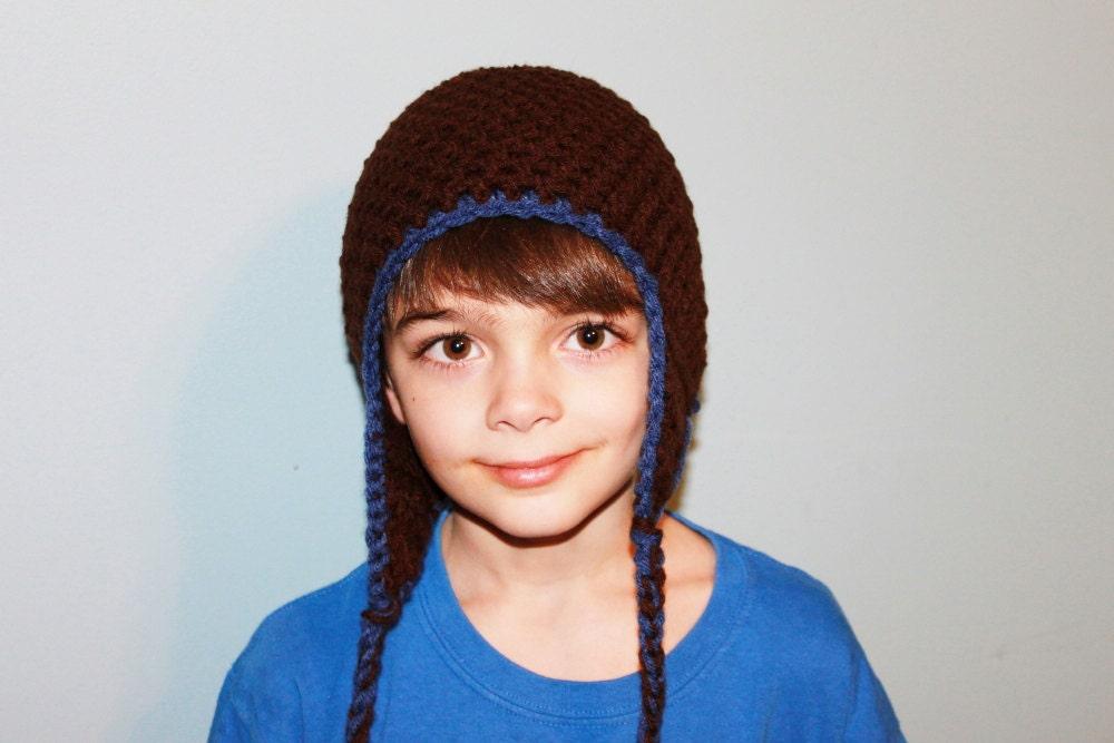 Earflap Beanie Hat - Crochet Earflap Hat - Boys Earflap Hat - MyStitchInTime