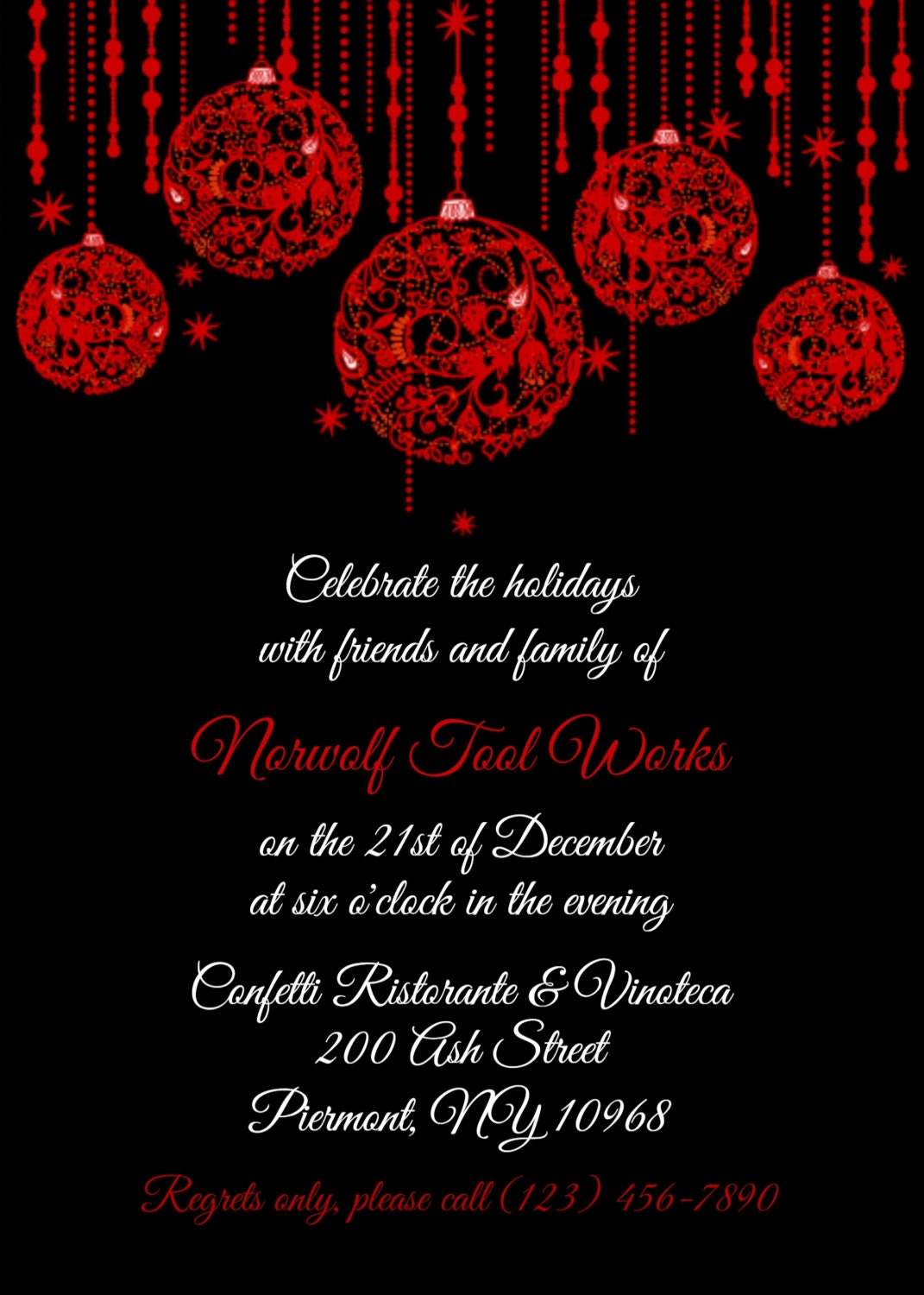 Office Christmas Party Invitation Templates. Christmas Party ...