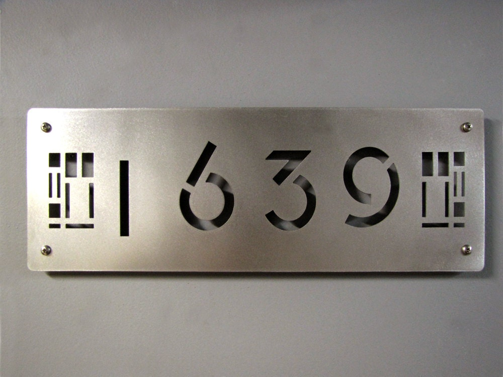 Custom Prairie Style House Numbers In Stainless By