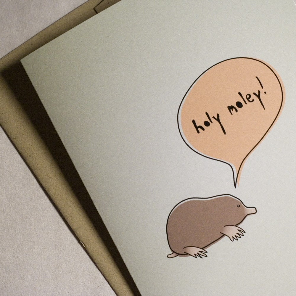 Congratulations Card - Holy Moley