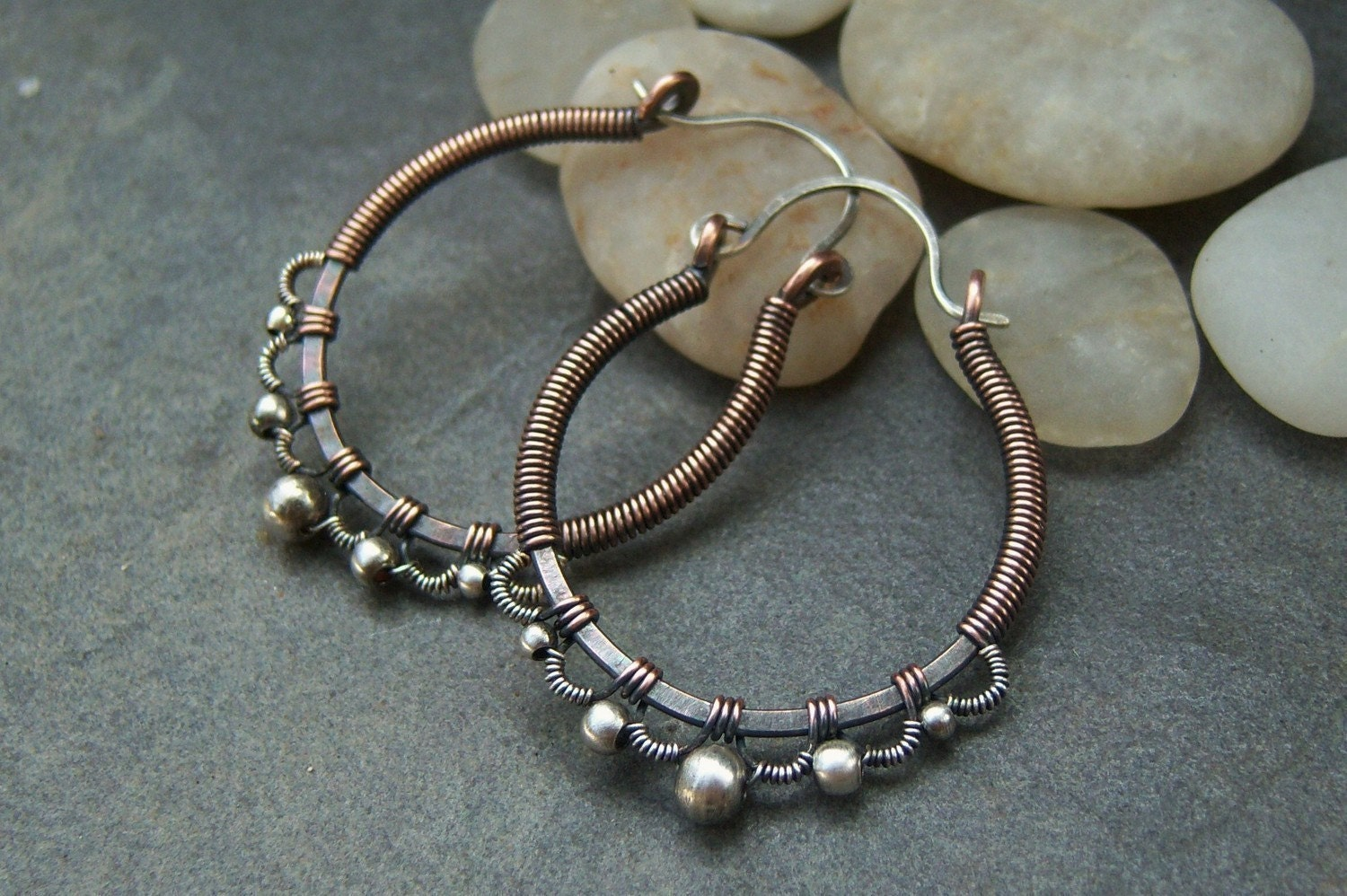 Tutorial-for Silver Lace Hoop Earrings-Sale-20% off.