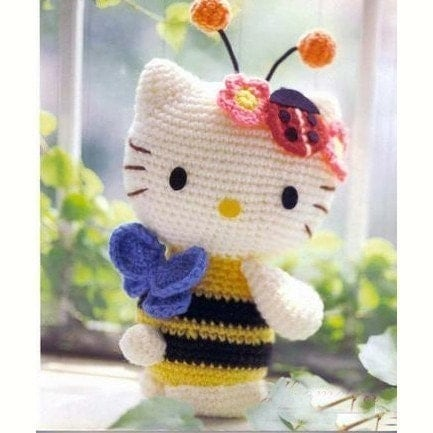 Amigurumi Honey Bee Ladybug ladybird Hello Kitty Crochet ...