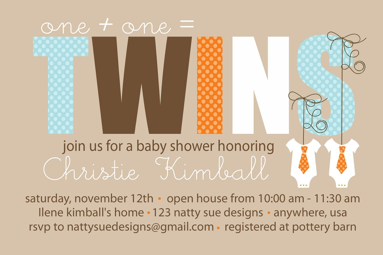 twins custom baby shower invitation by nattysuedesigns1 on etsy