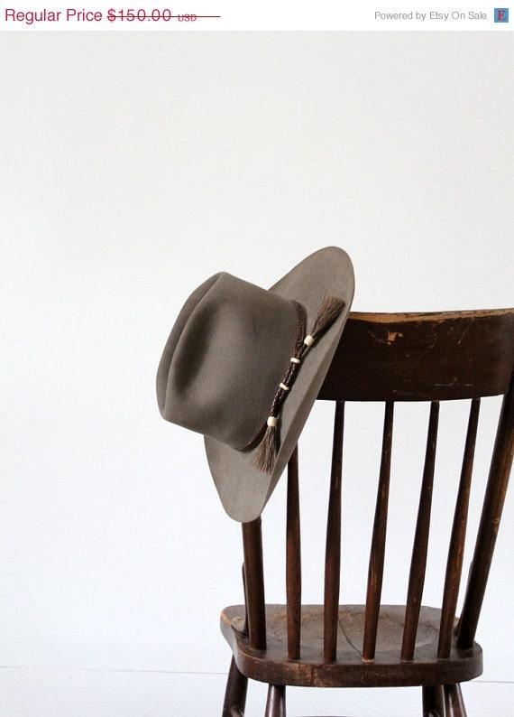 1960s Western Hat / Vintage Beaver Hat / The Cowboy - 86home