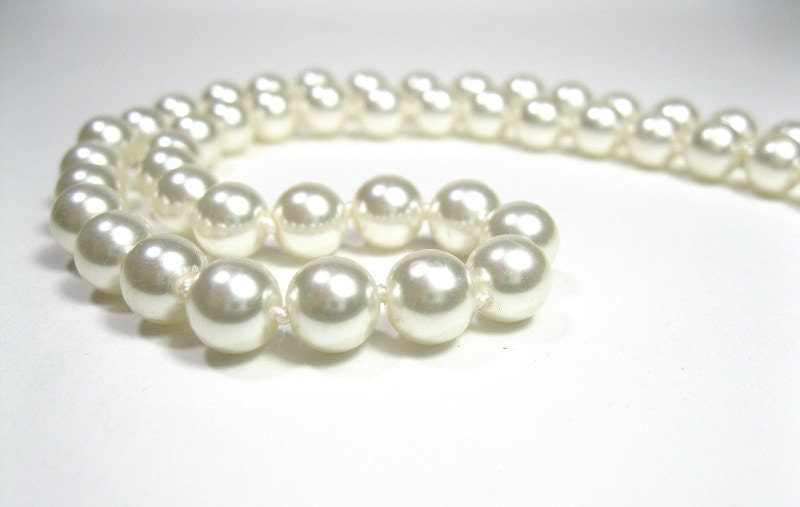 Vintage, White, Pearl, Bridal, Necklace