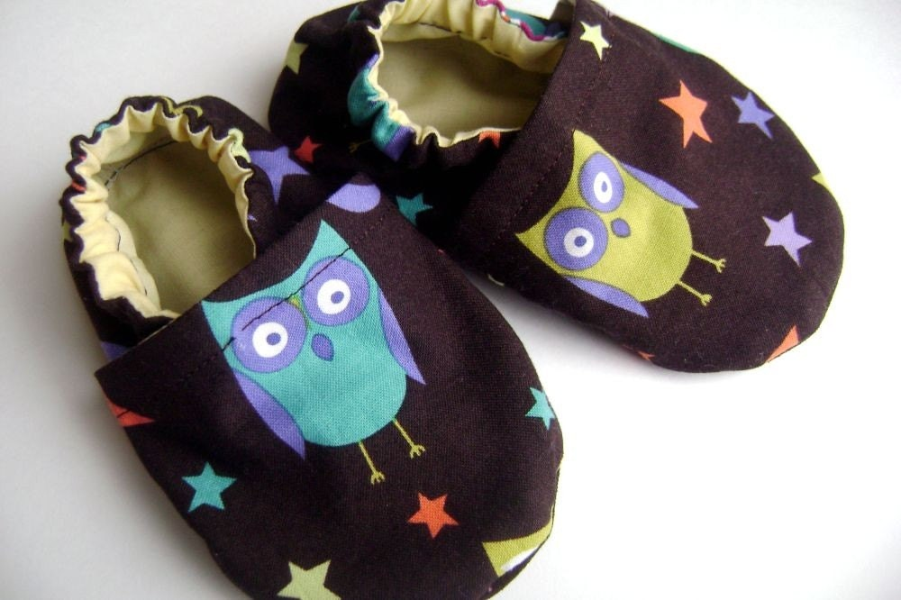 Who Who's Cute - Owl Soft Soled Baby Shoes - Slippers - 12-18 months
