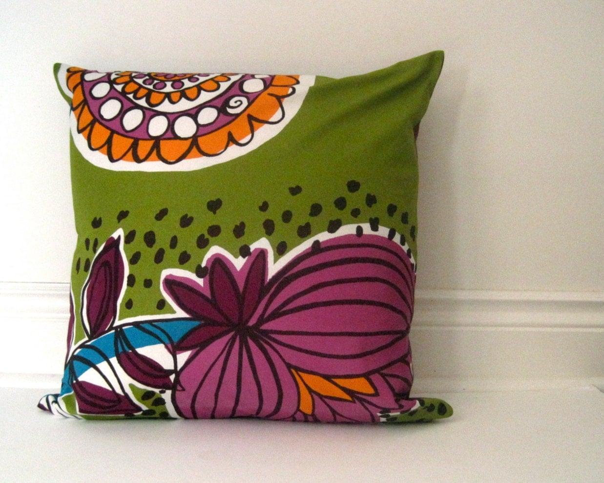 Marimekko throw pillow cover decorative mod purple by SewnNatural