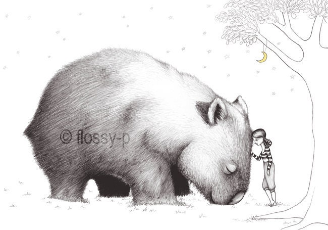 Giant Wombat Art Print