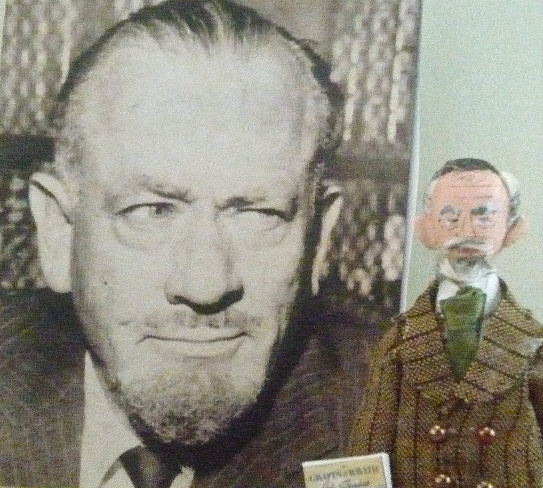 John Steinbeck Doll Miniature Classic Literature Author in Pinstripe Suit