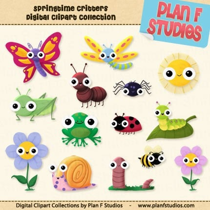 cute dragonfly clipart. Super Cute Springtime Critters
