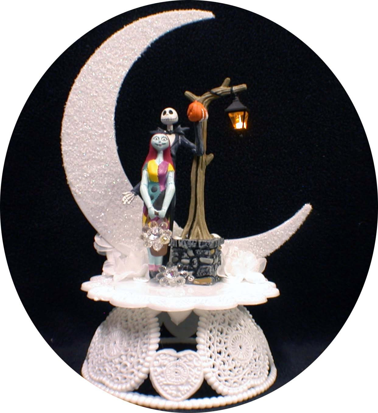 Cake Toppers For Christmas : Items similar to Nightmare before Christmas Wedding Cake ...