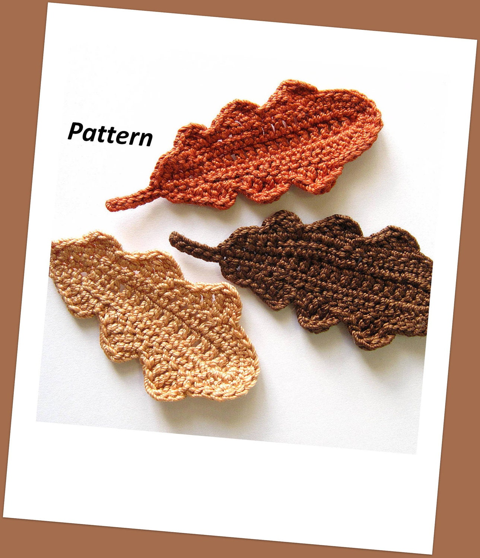 Oak Leaves Crochet Pattern by GoldenLucyCrafts on Etsy