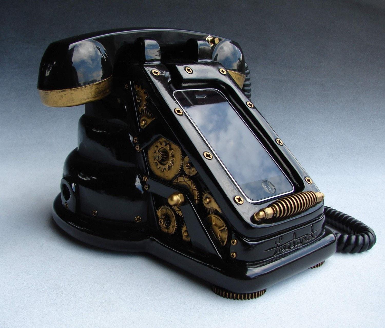 iRetrofone Steampunk - Black/Gold