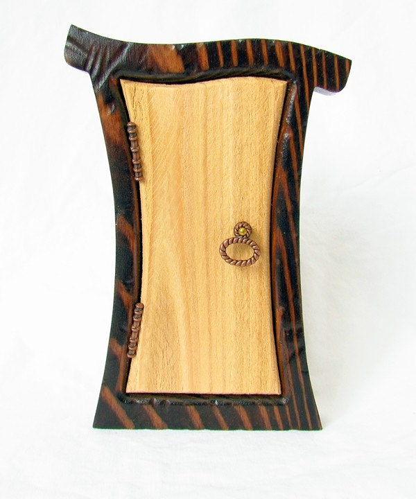 Enchanted rustic fairy door for your home and by for Rustic fairy door