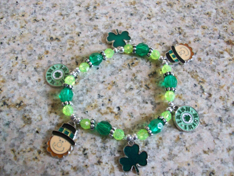Luck of the Irish Enamel Charm Bracelet