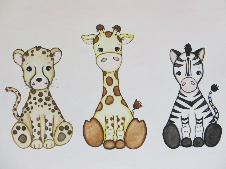 Baby animal painting - photo#13