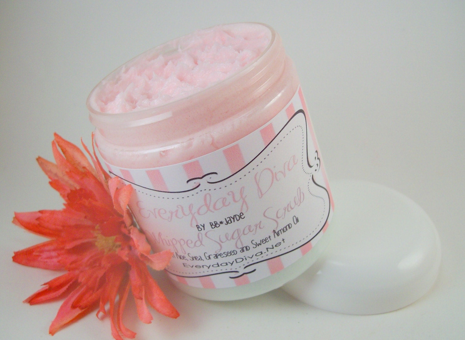 Rainbow Sherbet - Whipped Facial and Body Polishing Sugar Scrub 10 ounces - Sulfate, Paraben and Chemical Free