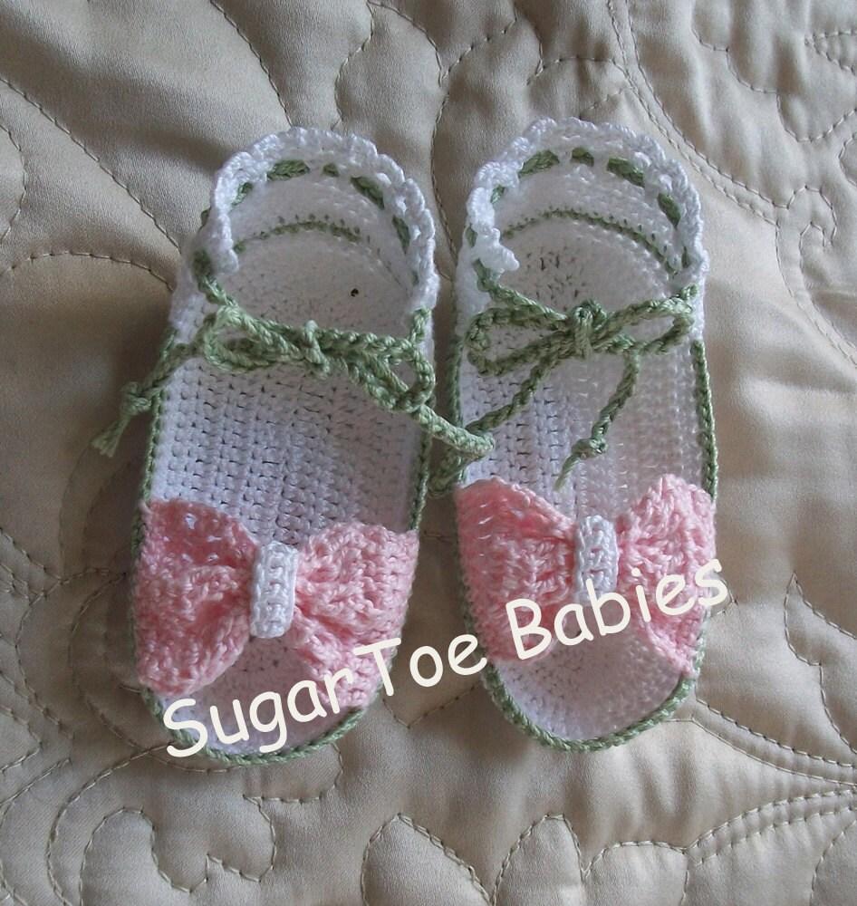 Cotton Crochet Baby Shoes Pattern : Newborn Thread Crochet Bootie Pattern Instant by ...
