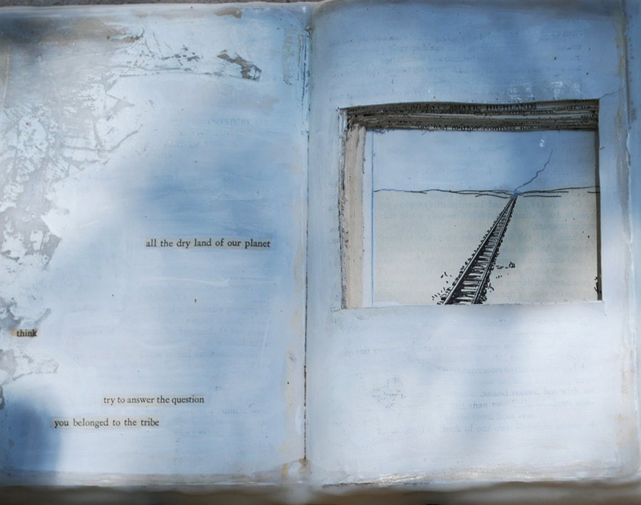 Found Poetry, Altered Book  Think, You Belonged to the Tribe - 88editions