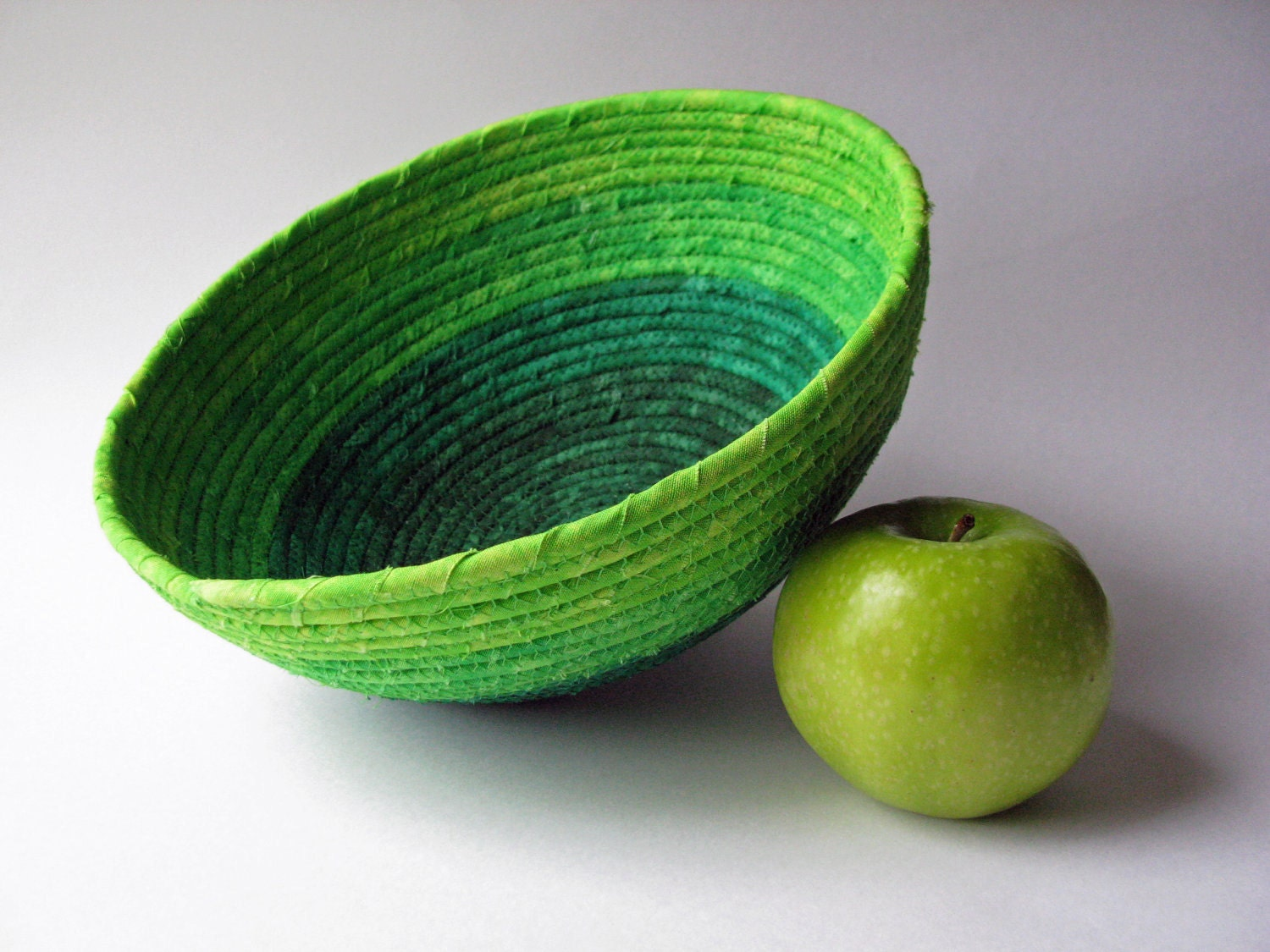 Fabric Coiled Basket - Large Green