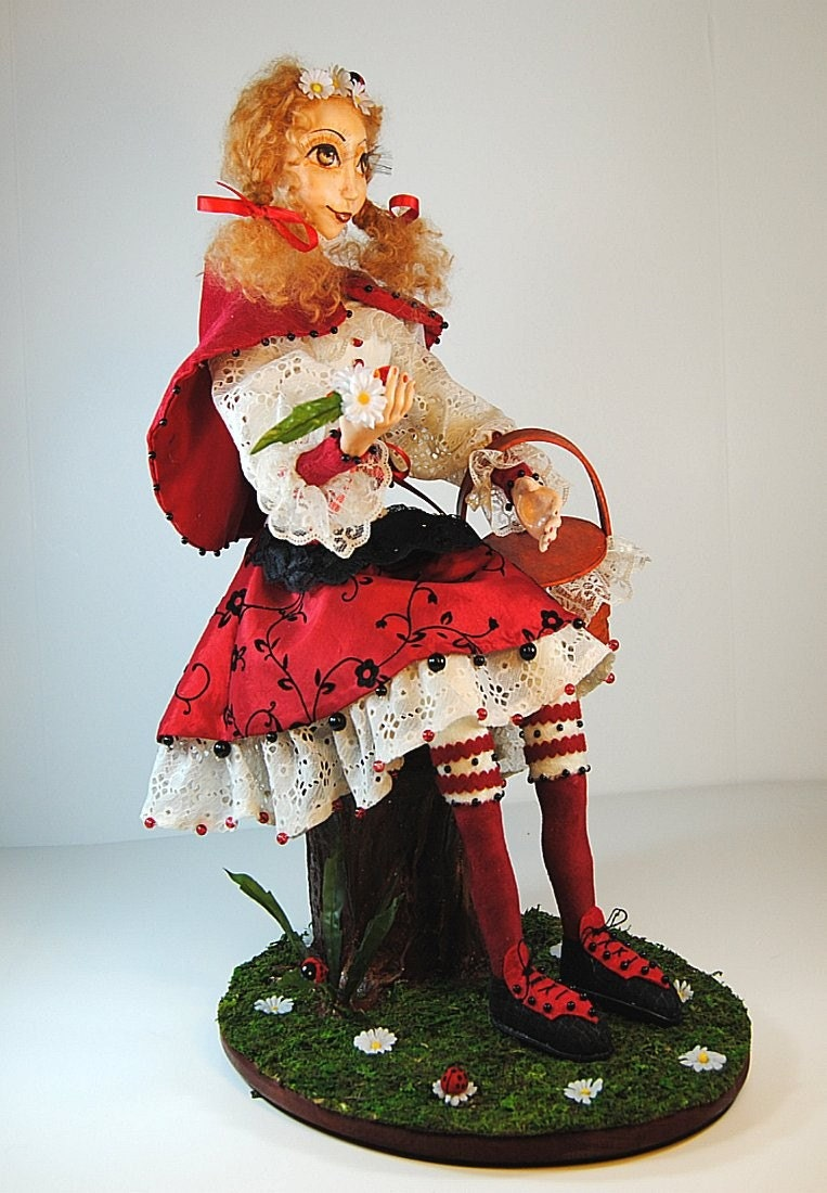 OOAK Fantasy Art-doll - Little Red Ridding Hood - IADR
