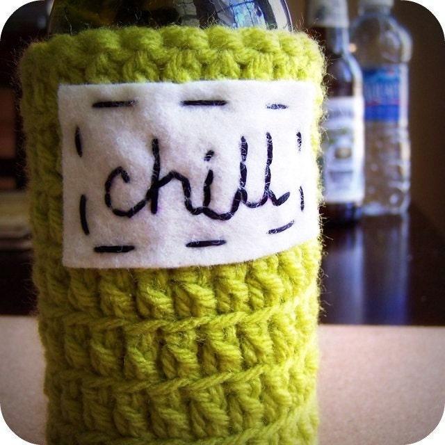 Chill beer bottle koozie handmade
