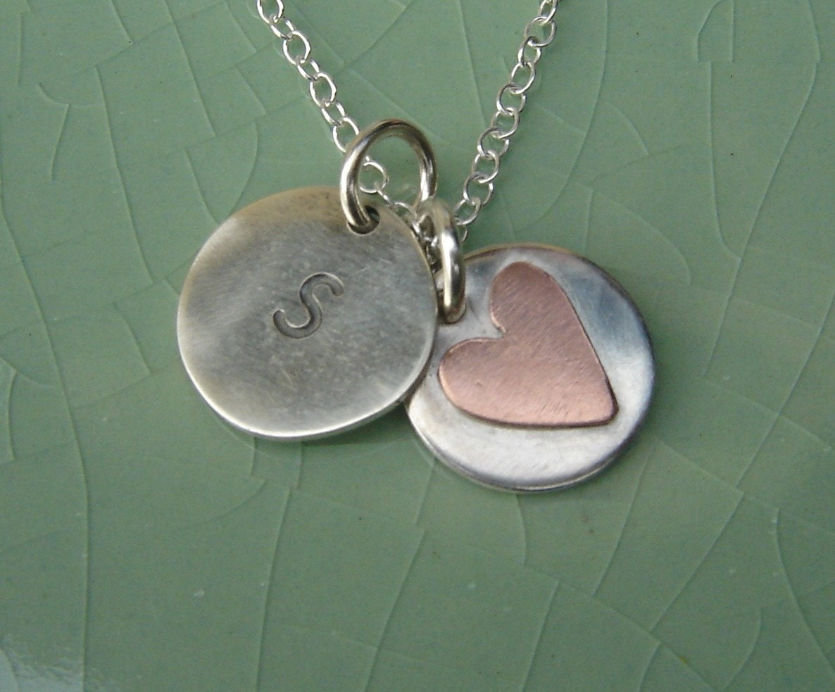 The perfect gift for flowergirls and bridesmaids initial heart tags